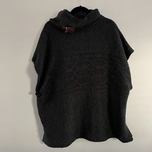 Dark Grey cape like sweater